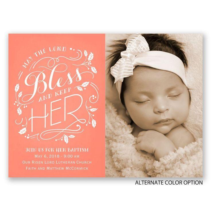 22 best baptism invitations images on Pinterest Christening - invitation for baptism girl