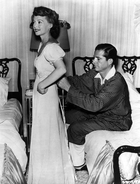 Dana Andrews and Lilli Palmer on the set of No Minor Vices, 1948, directed by Lewis Milestone.