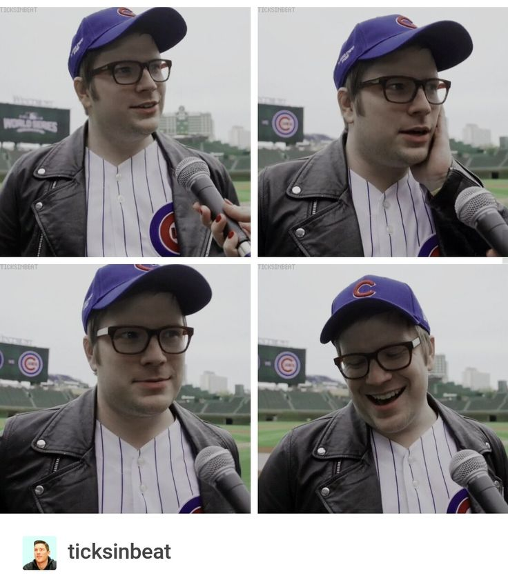 Patrick Stump interview on Cubs entering the World Series ❤