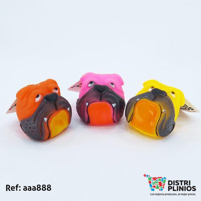 Juguete Para Perro Cara De Bulldog Para Mascotas Divertido juguete en goma con cara de bulldog, con sonido, ideal para tu mascota. Medidas: Alto: 8 cms Largo: 7 cms Ancho: 8 cms. Para ventas al por mayor comuníquese al 320 3083208 o al 3423674 en Bogotá