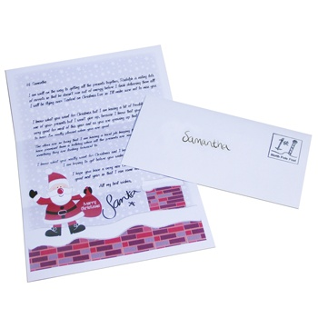 PERSONALISED SANTA LETTER:  Get a personalised letter from Santa for a child you know this Christmas and watch their faces light up! This personalised letter features the child's name and home town and let's them know how hard the elves are working to get their present's ready for Santa to deliver. The letter is sealed in an envelope with the child's name handwritten on, stamped with a postage stamp from the North Pole and packed with a sprinkle of magical elf dust!