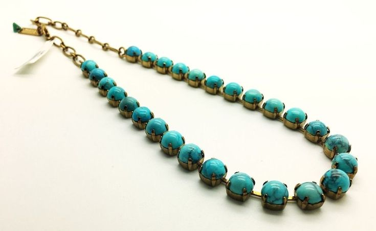 Mariana Pendant Necklace Turquoise Genuine Fashion Jewelry Crystal Chain Women #Mariana #Chain