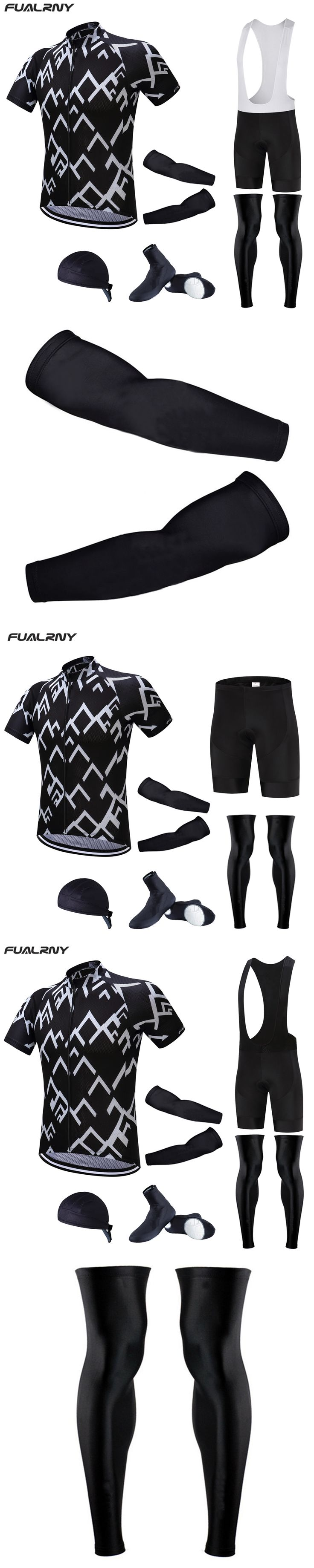 Fualrny 2017 Cycling Pro Team Cycling jersey wear Clothing men's maillot ropa bici ciclismo mtb bike Bicycle clothing full set