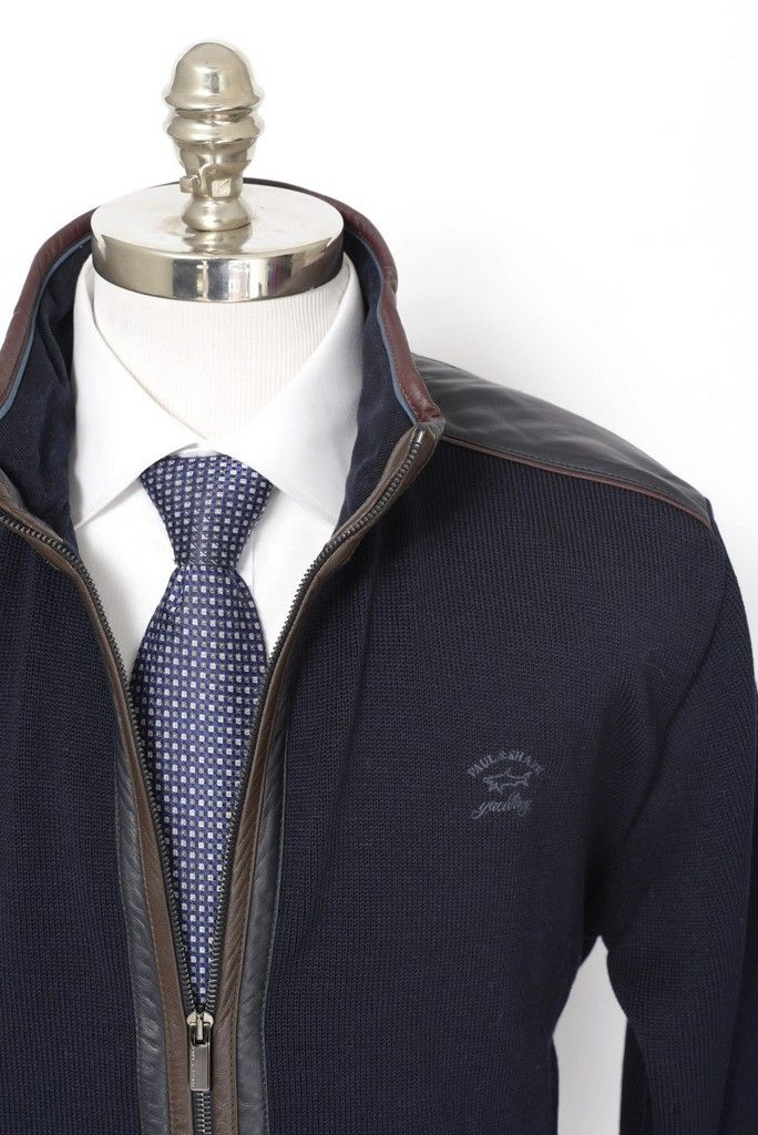 Toss on some jeans, with this Paul & Shark Yachting navy wool leather elbow patch zip sweater jacket! | Find yours! http://www.frieschskys.com/outerwear | #frieschskys #mensfashion #fashion #mensstyle #style #moda #menswear #dapper #stylish #MadeInItaly #Italy #couture #highfashion #designer #shopping