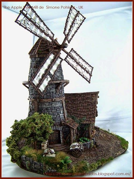 Tabletop-World-Concurso-Ganadores-Winners-warhammer-Scenery-The-Apple-tree-Mill-molino