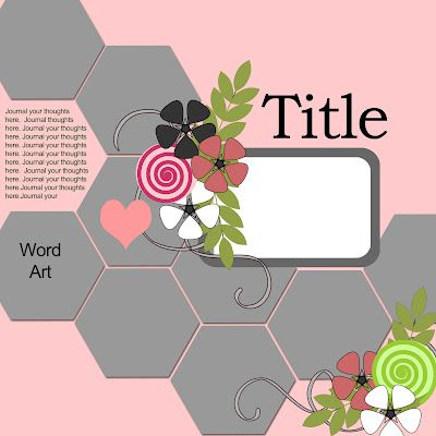 The Joy of Scrapbooking by Delores.... a FREE digital layout template.... download link in post