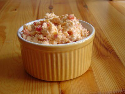 pimento cheese..... good as a snack with crackers or spread on a sandwich.