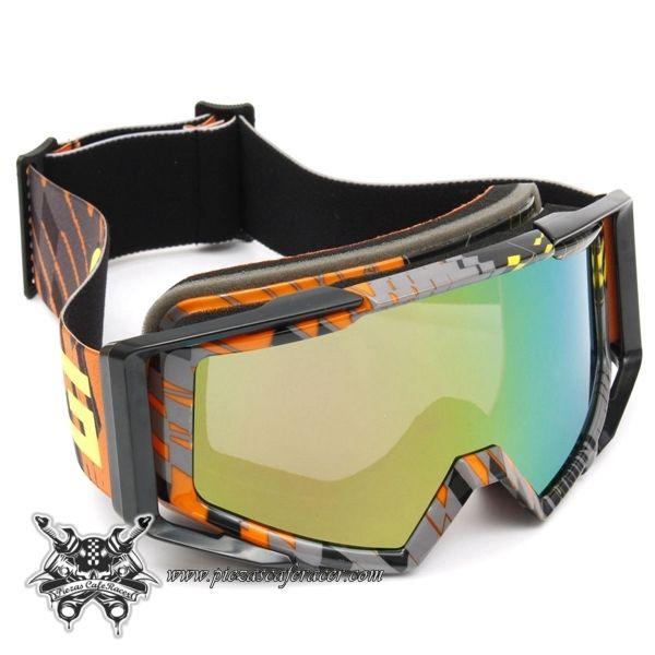 """Gafas Piloto Motocross Off-Road ATV Modelo """"Aggressive"""" Color Naranja-Gris - 16,72€ - ENVÍO GRATUITO EN TODOS LOS PEDIDOS"""