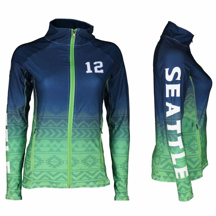 Seattle Seahawks 12th Fan Woman's Seattle Football Sublimation Jacket | Clothing, Shoes & Accessories, Women's Clothing, T-Shirts | eBay!