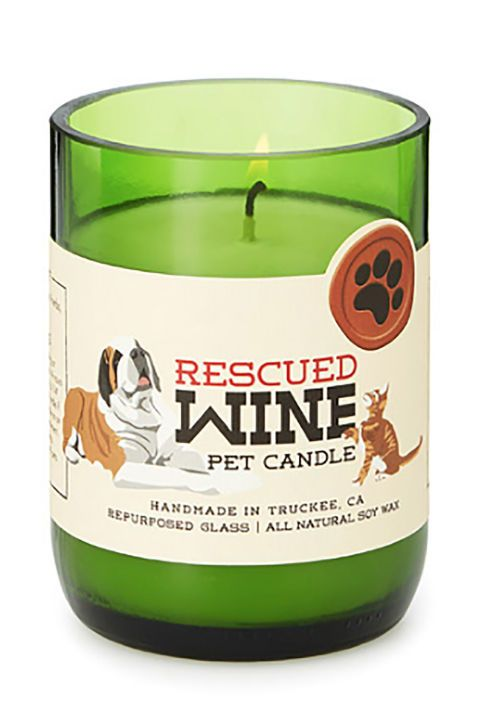 Fresh Sent Pet Candle Eliminate the stench of wet dog with this candle made with essential oils and soy wax. The candle's creator, Craig Davies, has devoted much of his life to workingwith rescue animal organizations.