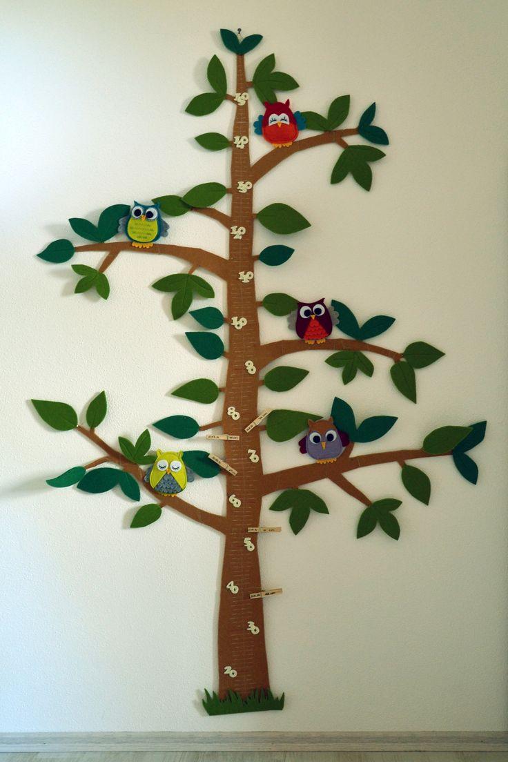 Eulen-Messlatte für's Kinderzimmer