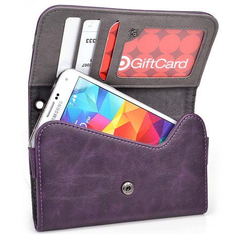 Offers a sleek, convenient option to store your phone on-the-go. Its luxurious, bicast leather is complemented by a microsuede interior, protecting your phone with a soft, forgiving surface. #GalaxyS6 #Wallet Case