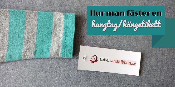 """Hur man fäster en hangtag/hängetikett Hangtags, som också kallas för hängetiketter, är ett utmärkt verktyg för marknadsföring och kan hjälpa till med branding som tex den """"look"""" du vill skildra. Läs mer på vår blogg: https://labelsandribbon.se/blog/hur-man-faster-en-hangtaghangetikett Till produkt: https://labelsandribbon.se/hang-tags-med-tryck  #hangtags #hängetikett #skaparglädje #diy"""
