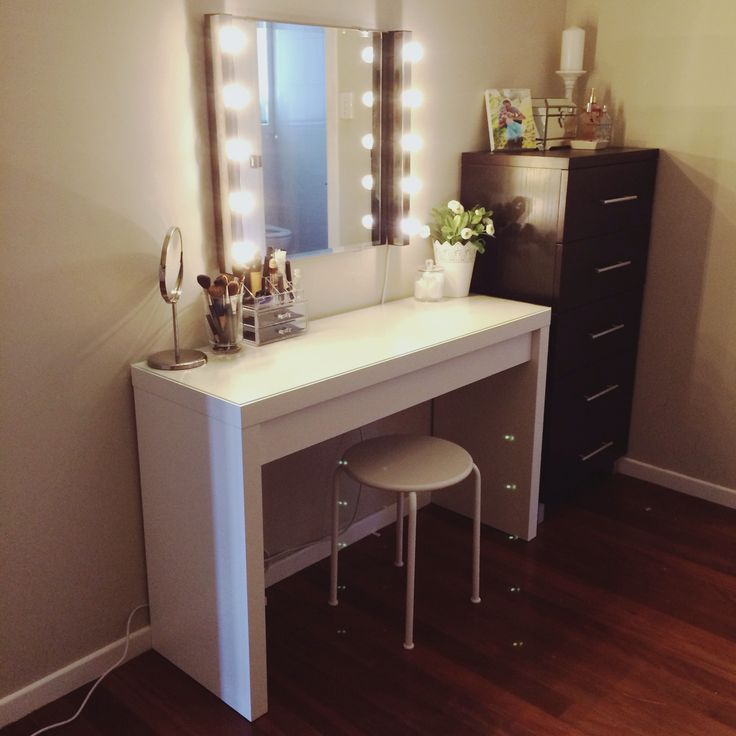 Here S Another View Of My Malm Ikea Vanity And Everything