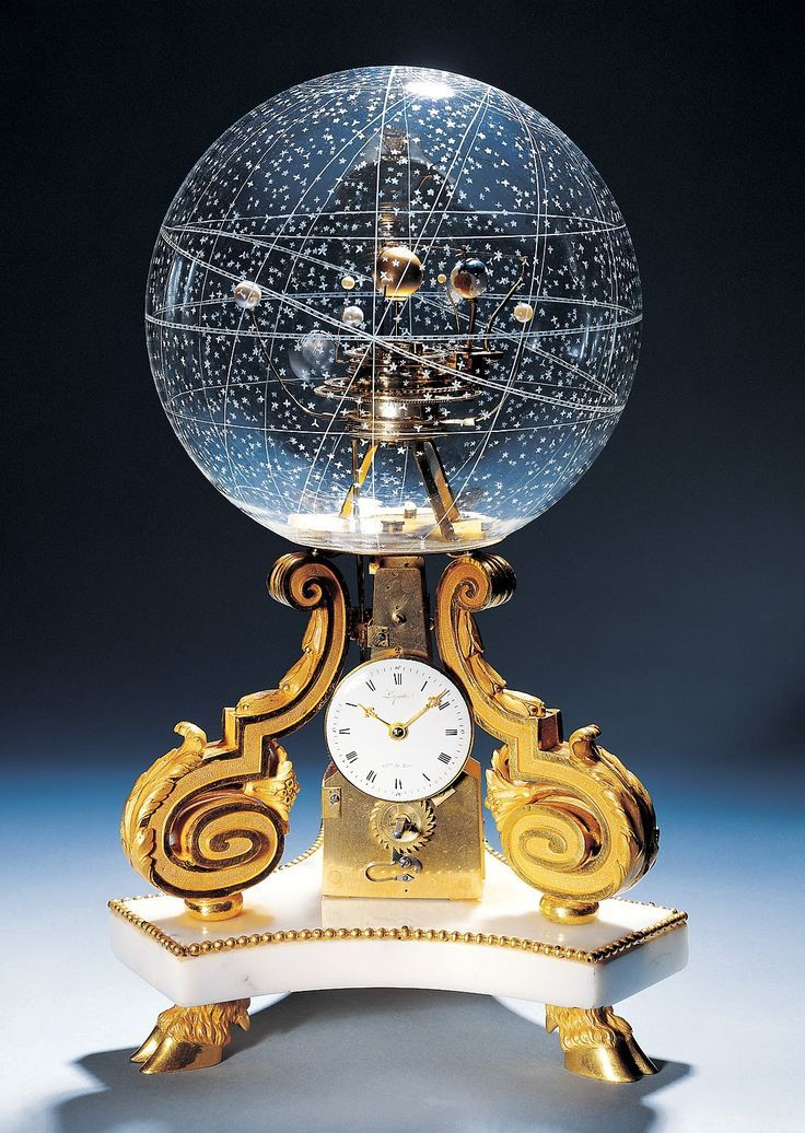 Beautiful - 1770 - Table Clock With Planetarium The planetarium clock pictured below is an absolute work of art. It was made in 1770 in Paris…