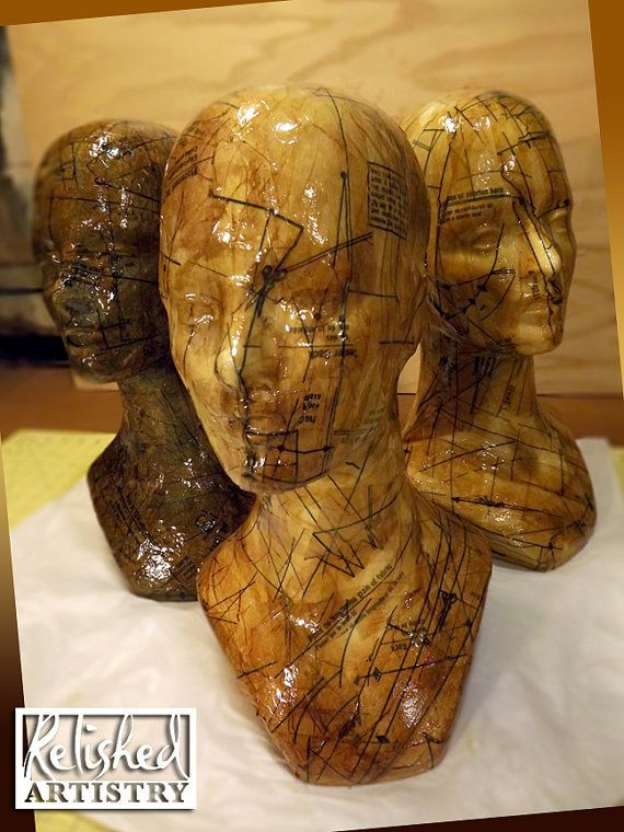 Display Head Mannequin with Aged Pattern by Relishedartistry, $60.00
