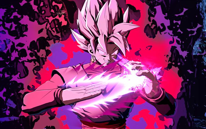 Download wallpapers 4k, Super Saiyan Rose, magic, Dragon