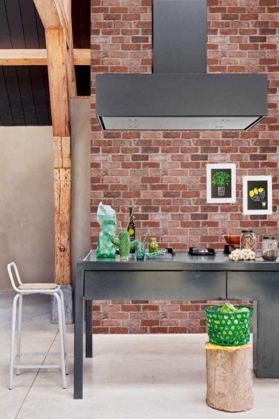 Inspirerande kök med tapet från kollektionen Mirage 49780. Klicka för att se fler tapeter för ditt hem!