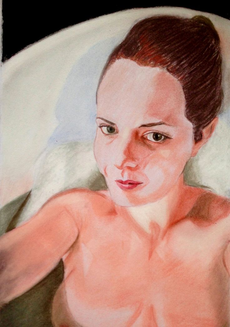 The Bathtub  Pastel on paper  A2 size