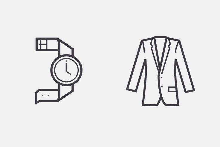 nordstrom pictograms http://archive.zeusjones.com/#679951/Nordstrom-Rack-Iconography #icons