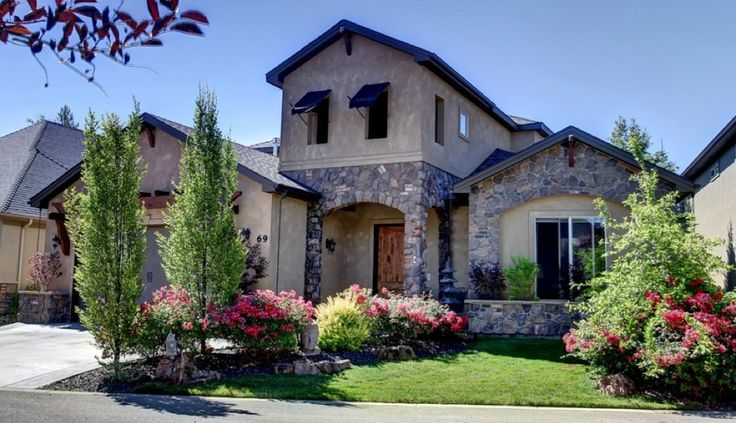 Mediterranean Tuscan Style Home, Exterior View ...