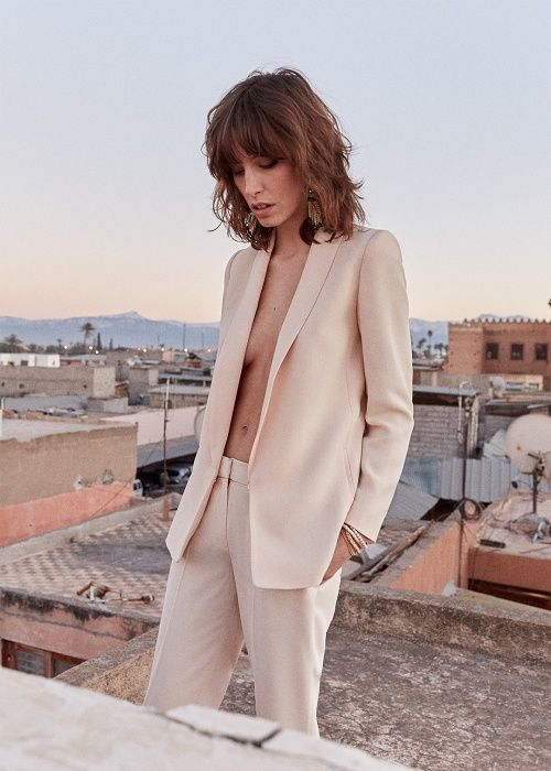 Sézane - Pré collection Printemps Sunrise www.sezane.com Veste Sarina et pantalon Gustav #sezane #precollection #printemps #sunrise