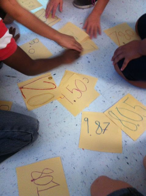 Ordering decimals. Team competition? Students write down a decimal then race in teams to put them in order.