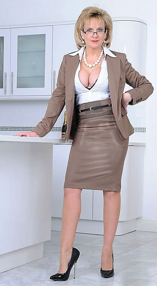 Ladies business suits pussy