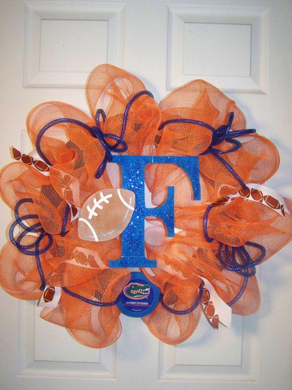 Florida Gators wreath: Gators Fans, Football Seasons, Gators Ideas, Football Wreaths, Gators National, Florida Gators Wreaths, Gators Girls, Mesh Wreaths, Gators Stuff