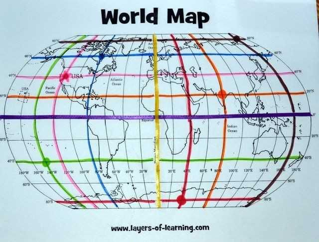 Latitude And Longitude Worksheet Answers Teaching Maps Social Studies Maps Geography Lessons