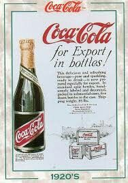 Advertisement of coca cola in 1920