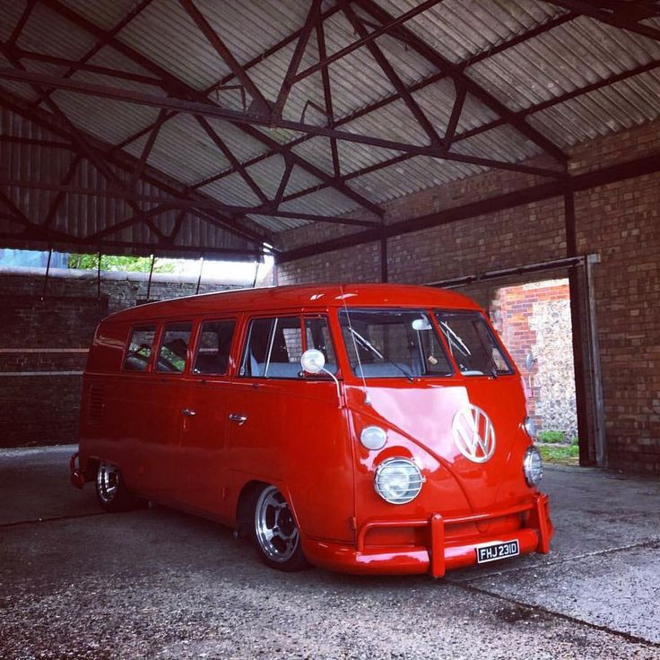 glossy red vw bus <3 re-pinned by https://www.facebook.com/wfpccdailyquotes