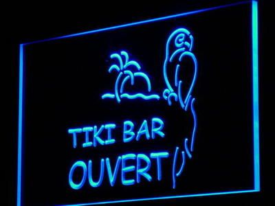 j177 OUVERT Tiki Bar OPEN Bar Beer LED Neon Light SignWholesale Dropshipping On/ Off Switch 7 colors DHL
