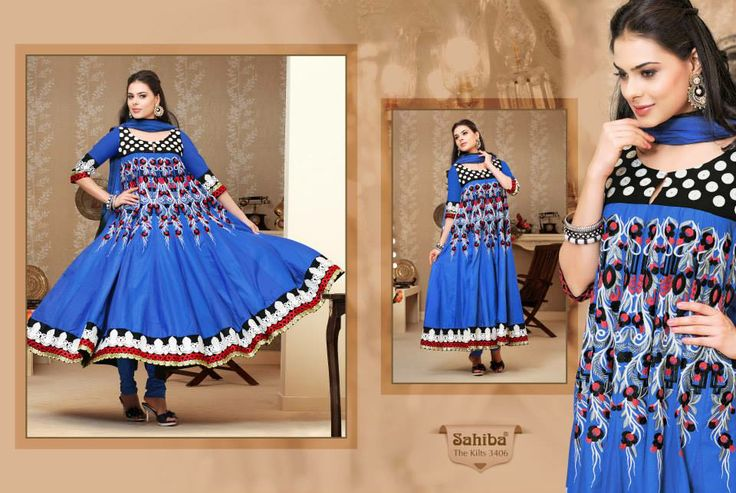 www.sahibafabrics.com Follow the link #blue #blueanarkali #anarkali #beautiful #indianfashion