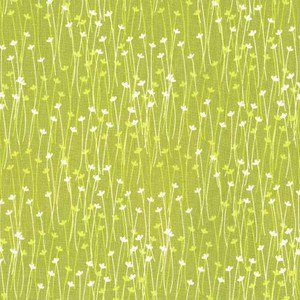 Michael Miller House Designer - Doodle Daisy - Spring Sprout in Lime