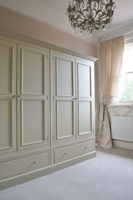 Gorgeous Chichester wardrobes, in Old Chalk. #interior #bedroom