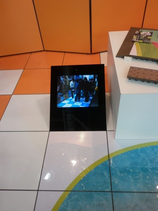 FloorCaster - video display integrated into PromoDek