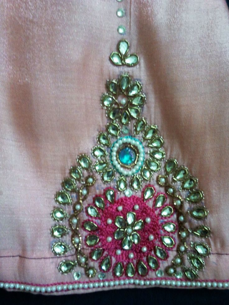 17 Best Images About Rajasthani Kundan Embroidery On