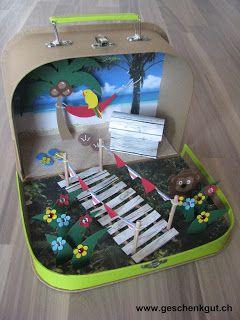 Geldgeschenk Reisegeld Ferien Koffer Geburtstag