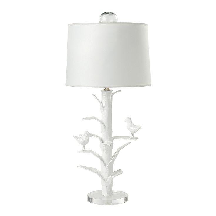Designer Sarah Bird Lamp in White Papier Mache | Serena & Lily    http://www.serenaandlily.com/Baby/Baby-Lighting-Sarah-Bird#