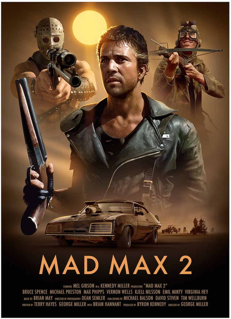 Mad Max 2: The Road Warrior In the post-apocalyptic Australian wasteland, a cynical drifter agrees to help a small, gasoline rich, community escape a band of bandits. http://www.imdb.com/title/tt0082694/ --- The 2015 remake is going to blow.