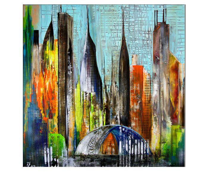 """Moderne Kunst: Gemälde """"Metropole"""" -> Sell Your own art at www.argato.de! #Artwork #kunstwerk #painting #modernekunst #malerei #galerie #artist #eventart #diekunstmacher #abstraktekunst #modernart #modernpainting #painter #abstractpainting #galleryart"""