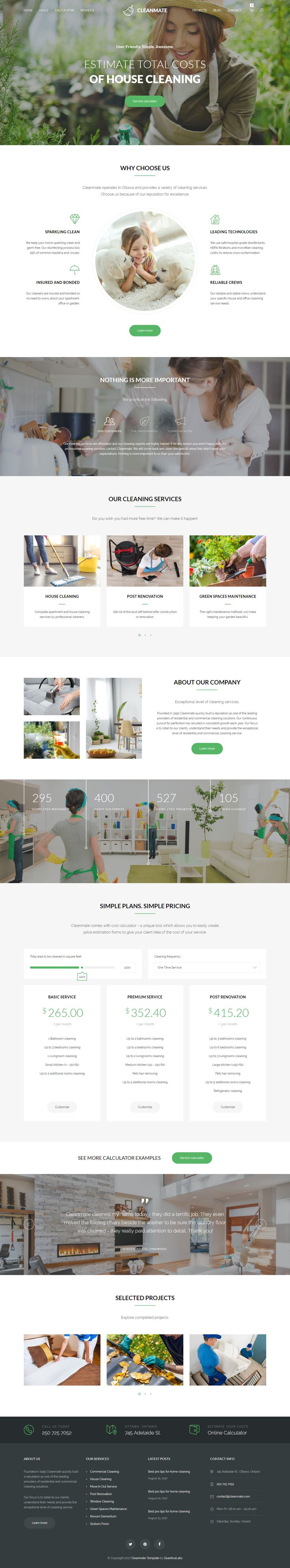 Cleanmate cleaning company maid gardening template