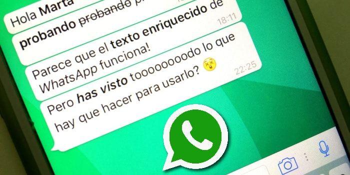 Ahora con Whatsapp puedes escribir negrita, cursiva, y tachar palabras en la aplicación de Whatsapp Messenger del iPhone.  http://iphonedigital.es/escribir-negritas-cursivas-tachado-whatsapp-iphone-ios/  #iphoneapps