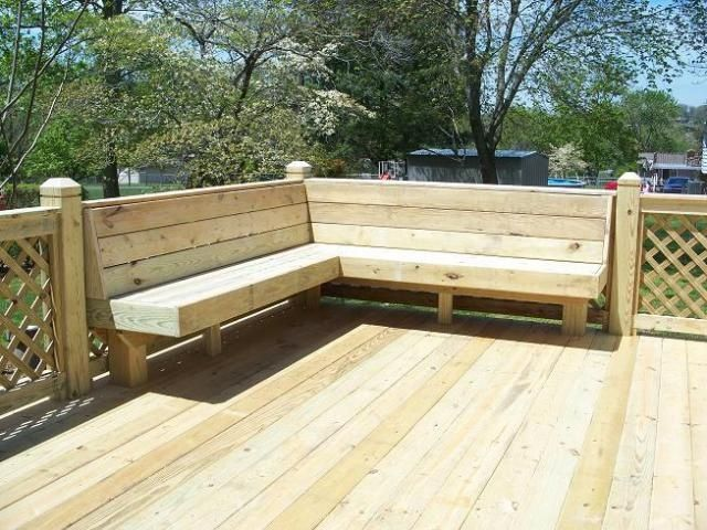 back deck ideas | Back deck idea...build in a bench