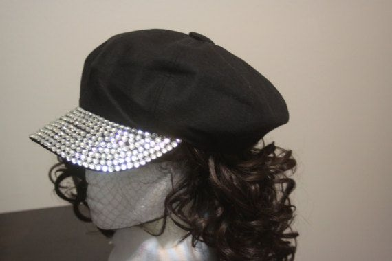 7a1c5ecacc6c6 Style BBCR, Adult One Size, Black Newsboy Cap with Rhinestone Bill, Pageboy  Hat, Bling / Rave / Hip Hop in 2019 | Selena | Newsboy cap, News boy hat,  Hats