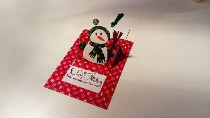 Pop up slider card met sneeuwpop