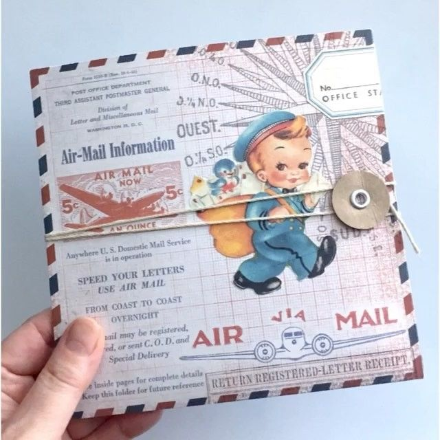 OUTGOING  This airmail themed flipbook has been received.  以前チラ見せした、こちらのフリップブック、無事にお届け出来たのでアップします。 #snailmail #happymail #sendmoremail #flipbook #flipbooks #papercraft #scrapbooking  #エアメール #フリップブック #スクラップブック #ペーパークラフト #ミニブック #airmail #vintagepaper #vintageephemera #snailmailrevolution #collage #コラージュ #timholtz #postman #郵便屋さん #レトロ