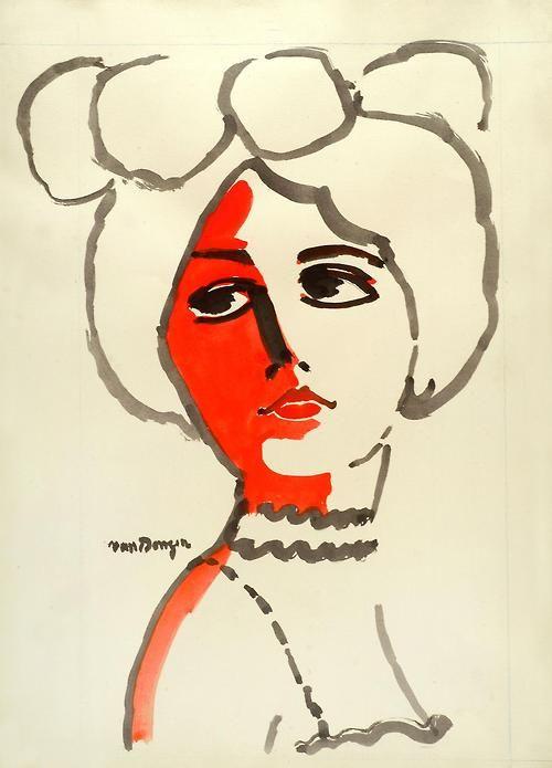 Femme au Chapeau, Kees van Dongen