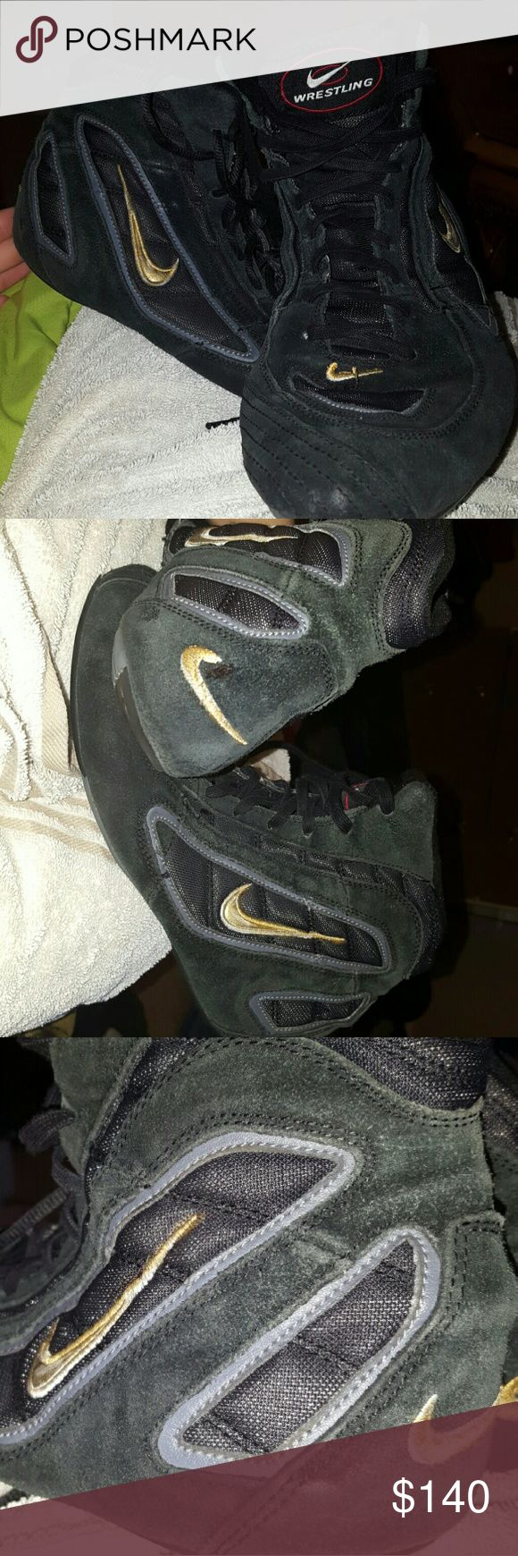 Rare 90's olympic wrestling shoes They are black and gold wrestling shoes wore in the 90s olympic rare Nike Shoes Athletic Shoes